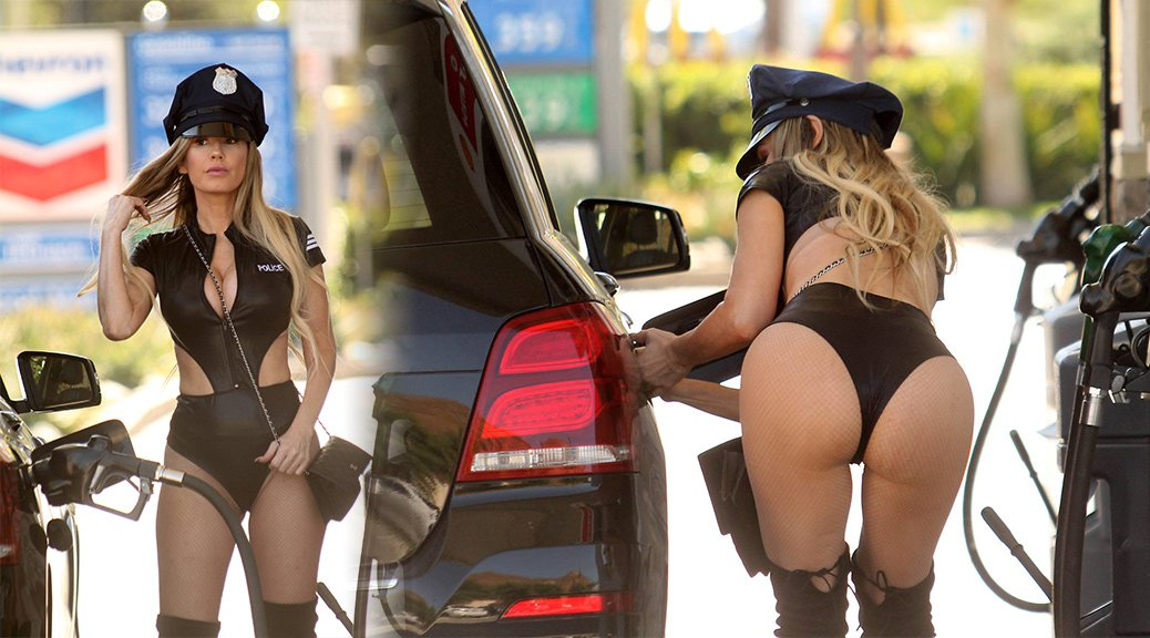 Ana Braga - Hallloween Costume Candids in Studio City