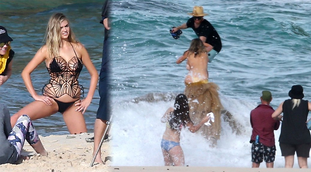 Kate Upton - SI Swimsuit Issue Bikini Photoshoot Candids in Aruba
