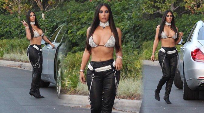 Kim Kardashian – Haloween Candids in Beverly Hills