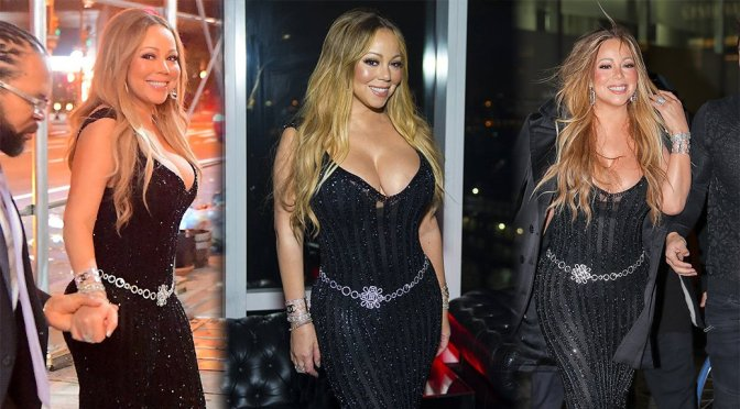 Mariah Carey – Cleavage Candids in New York