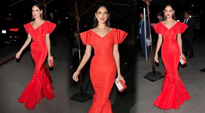 Eiza Gonzales Sexy Red Dress