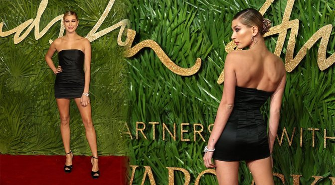 Hailey Baldwin – Fashion Awards 2017 in London