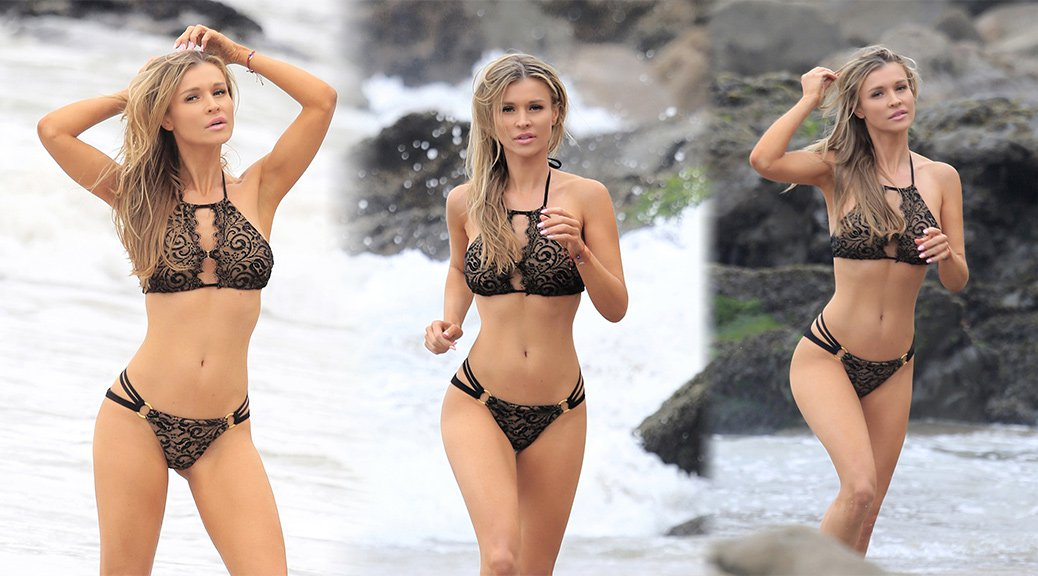 Joanna Krupa - Bikini Photoshoot Candids in Malibu