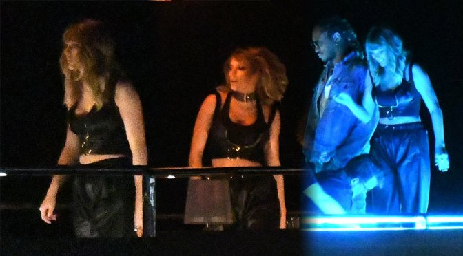 Taylor Swift on Music Video Set in Miami