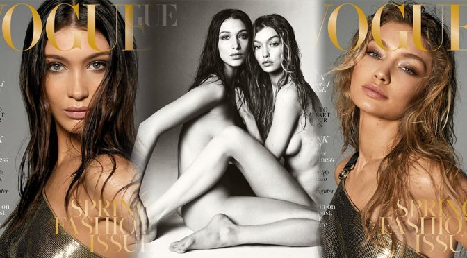 Bella & Gigi Hadid – Vogue UK Magazine Photoshoot (March 2018)