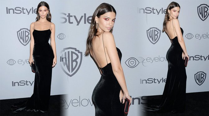 Emily Ratajkowski – 2018 InStyle And Warner Bros Golden Globe Awards Post-Party