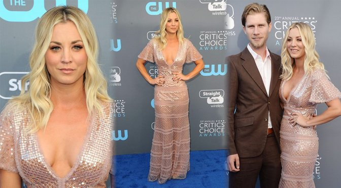 Kaley Cuoco – 23rd Annual Critics' Choice Awards in Santa Monica
