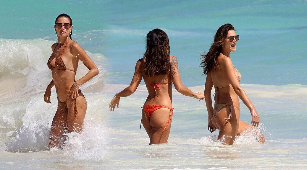 Alessandra Ambrosio - Bikini Candids in Tulum