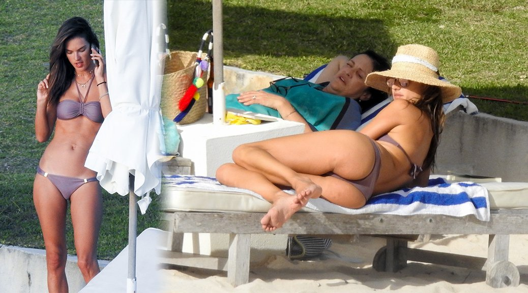 Alessandra Ambrosio - Bikini Candids in Bahamas