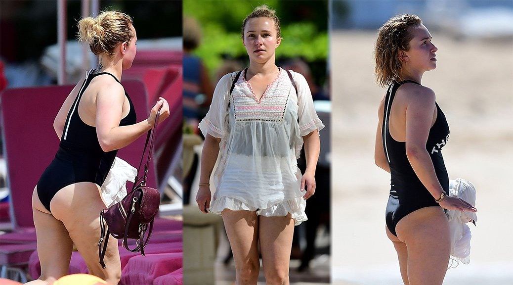 Hayden Panettiere - Swimsuit Candids in Barbados