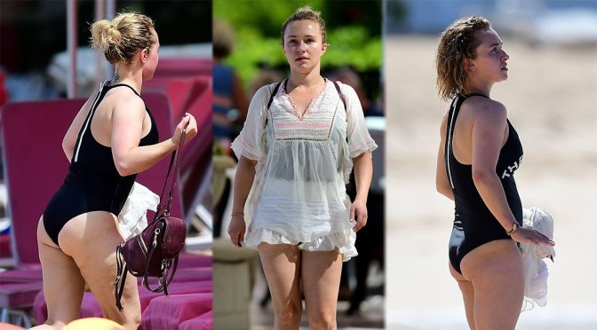 Hayden Panettiere – Swimsuit Candids in Barbados
