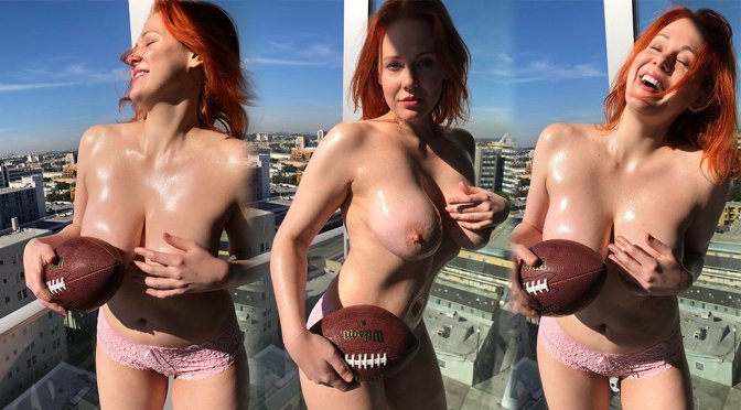 Maitland Ward – Super Bowl Topless Photoshoot (NSFW)