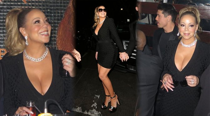 Mariah Carey – Cleavage Candids in Los Angeles