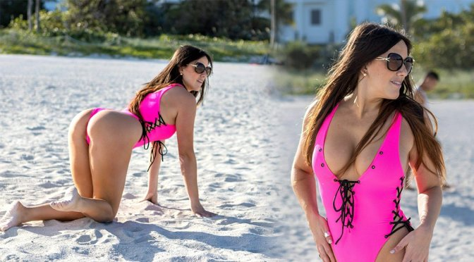 Claudia Romani – Swimsuit Photoshoot in Miami Beach