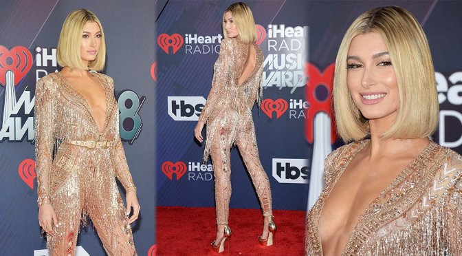 Hailey Baldwin – 2018 iHeartRadio Music Awards in Inglewood