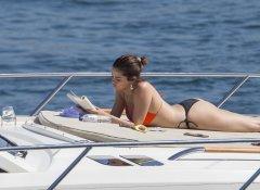Selena Gomez Bikini On A Boat
