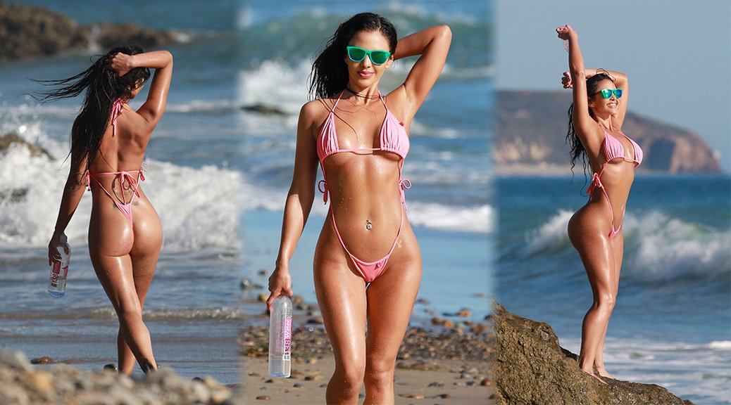 "Val Fit - ""138 Water"" Bikini Photoshoot Candids in Malibu"