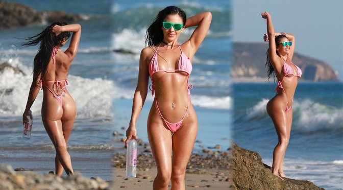 "Val Fit – ""138 Water"" Bikini Photoshoot Candids in Malibu"