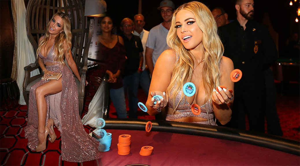 Carmen Electra - $100,000 Blackjack Tournament in Miami