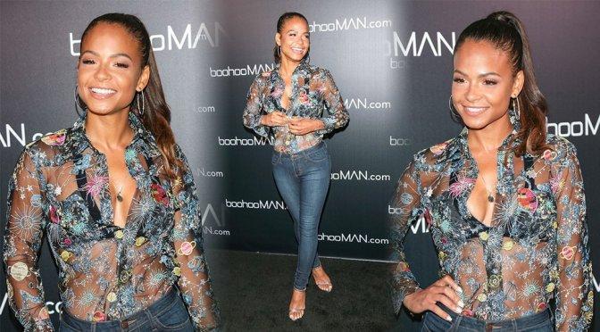 Christina Milian – boohooMAN Party in Los Angeles