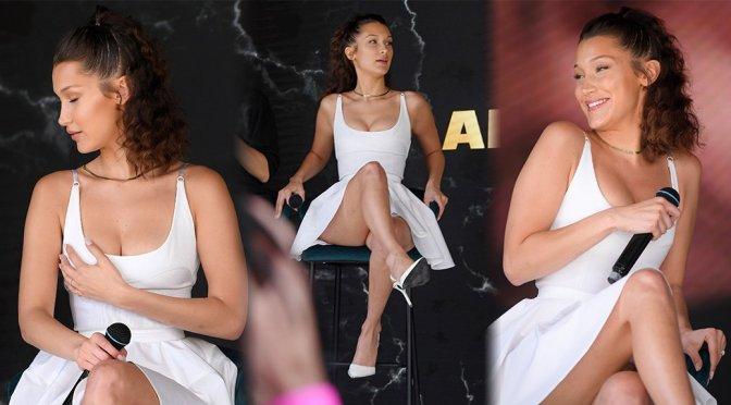 Bella Hadi Sexy Legs And Boobs