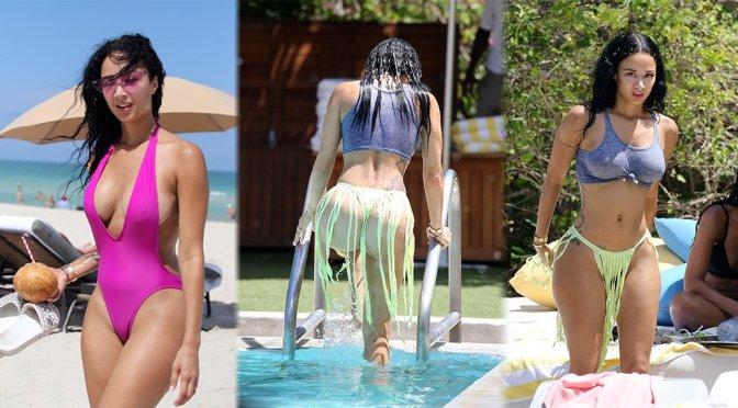 Draya Michele – Swimsuit Candids in Miami