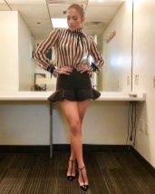 Jennifer Lopez Sexy Mini Skirt