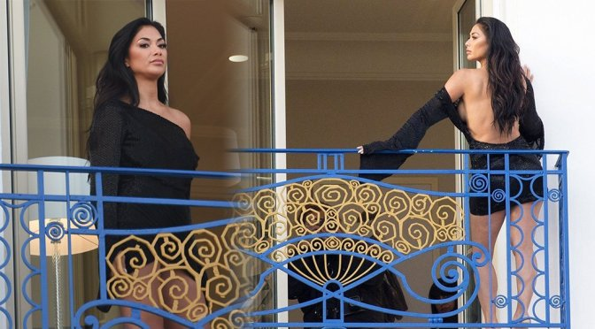 Nicole Scherzinger – Braless Photoshoot Candids in Cannes