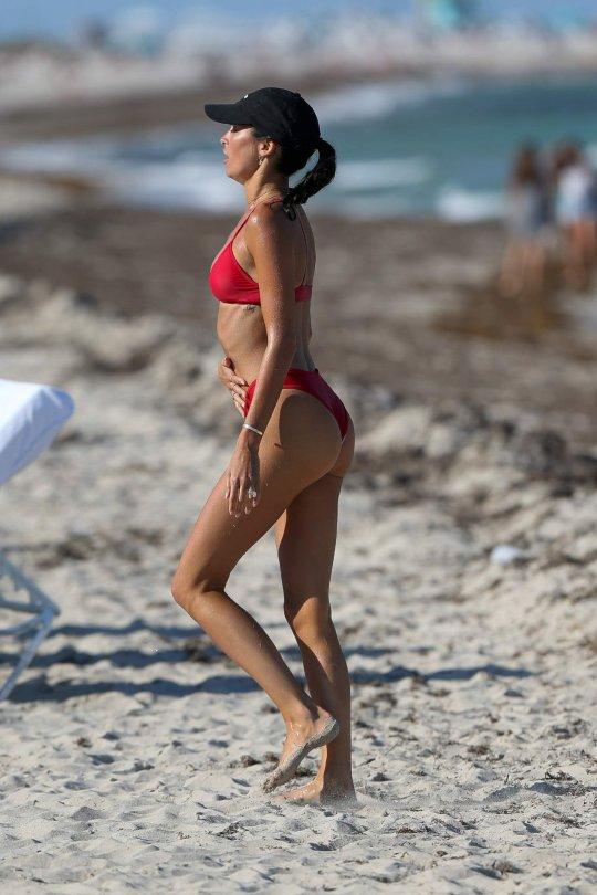 Nicole Williams Red Bikini