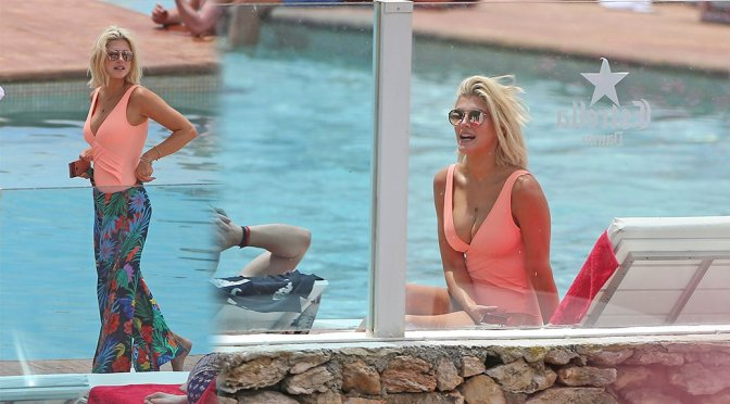 Ashley James – Swimsuit Candids in Ibiza