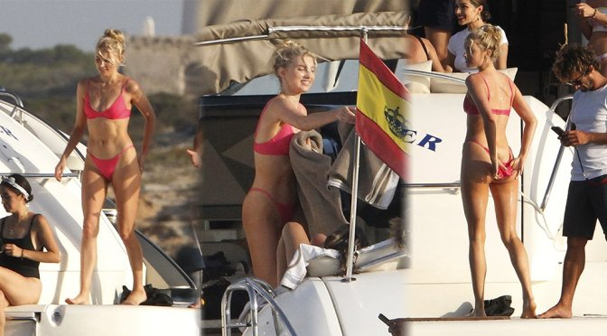 Elsa Hosk – Bikini Candids in Formentera