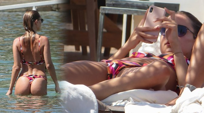 Kimberley Garner – Bikini Candids in Mykonos
