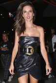 Alessandra Ambrosio Sexy Little Black Dress