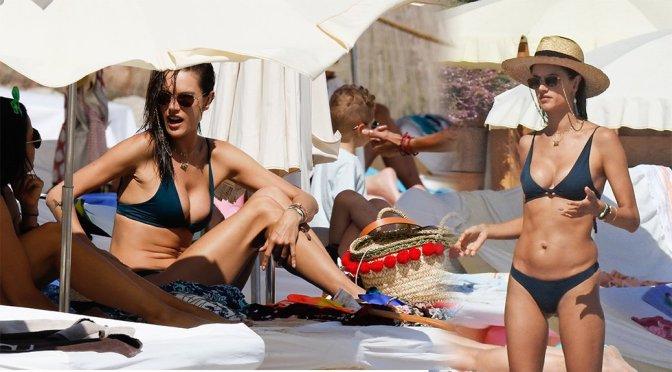 Alessandra Ambrosio – Bikini Candids in Ibiza
