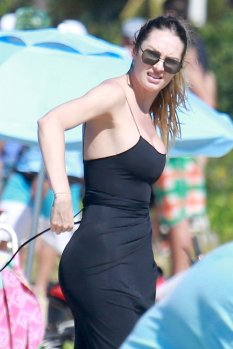 Candice Swanepoel Black Swimsuit ()