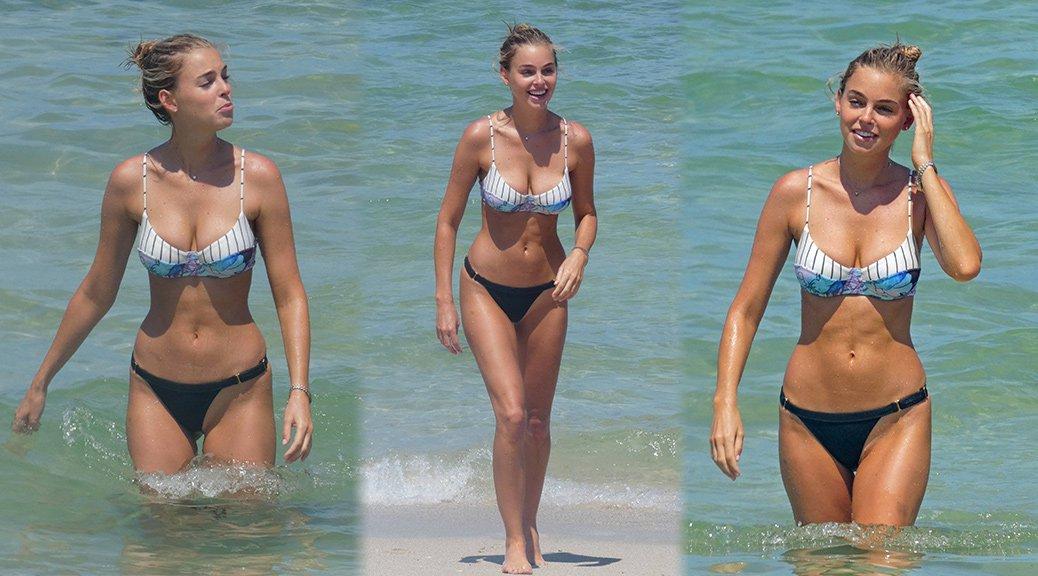 Elizabeth Turner - Bikini Candids in Miami
