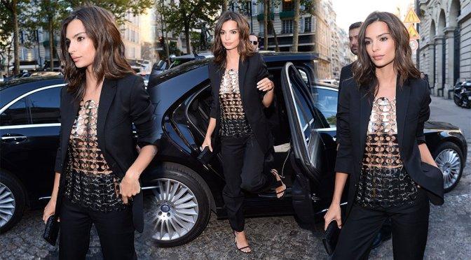 Emily Ratajkowski – Vogue Foundation Dinner 2018 in Paris