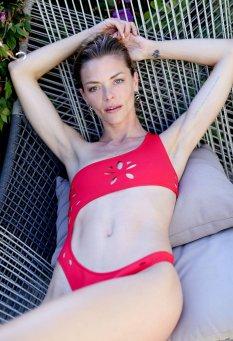 Jamie King Red Bikini