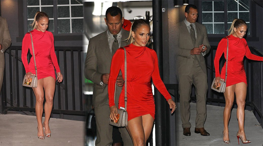 Jennifer Lopez - Leggy Candids in West Hollywood