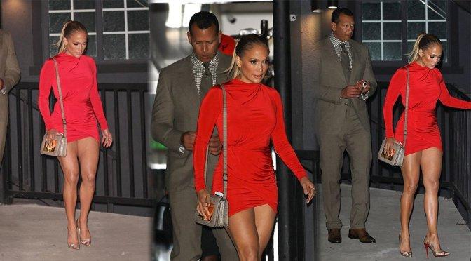 Jennifer Lopez – Leggy Candids in West Hollywood
