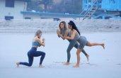 Kim Kardashian Bikini Yoga
