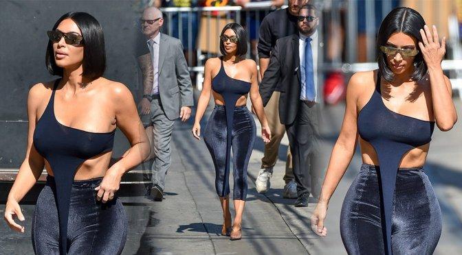 Kim Kardashian – Braless See-Through Candids in Hollywood