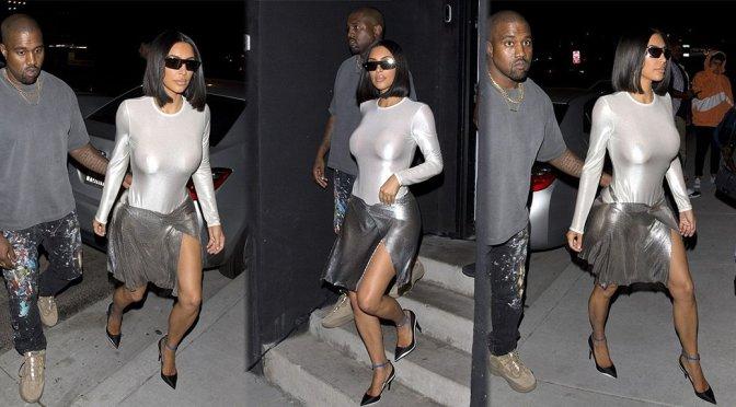 Kim Kardashian – Braless See-Through Candids in Los Angeles
