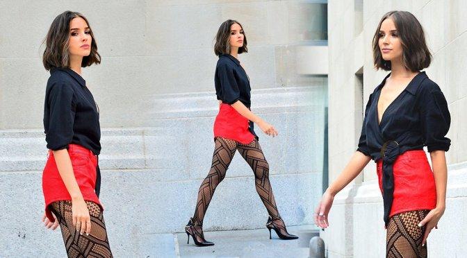 Olivia Culpo – Leggy Photoshoot Candids in New York