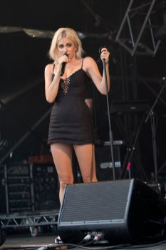 Pixie Lott Sexy Black Dress