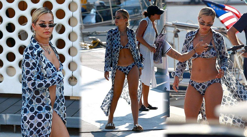 Rita Ora - Bikini Candids in Barcelona