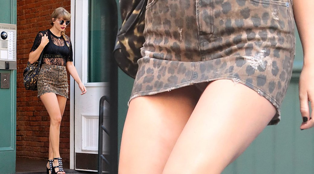 Taylor Swift - Upskirt Candids in New York