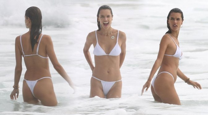 Alessandra Ambrosio – Bikini Candids in San Diego