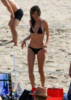 Alessandra Ambrosio In Bikini At Beach In La