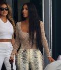 Kim Kardashian Braless In Sheer Top In Miami